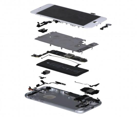 Das iPhone 7 in einer Explosionsdarstellung (Bild: IHS Markit)