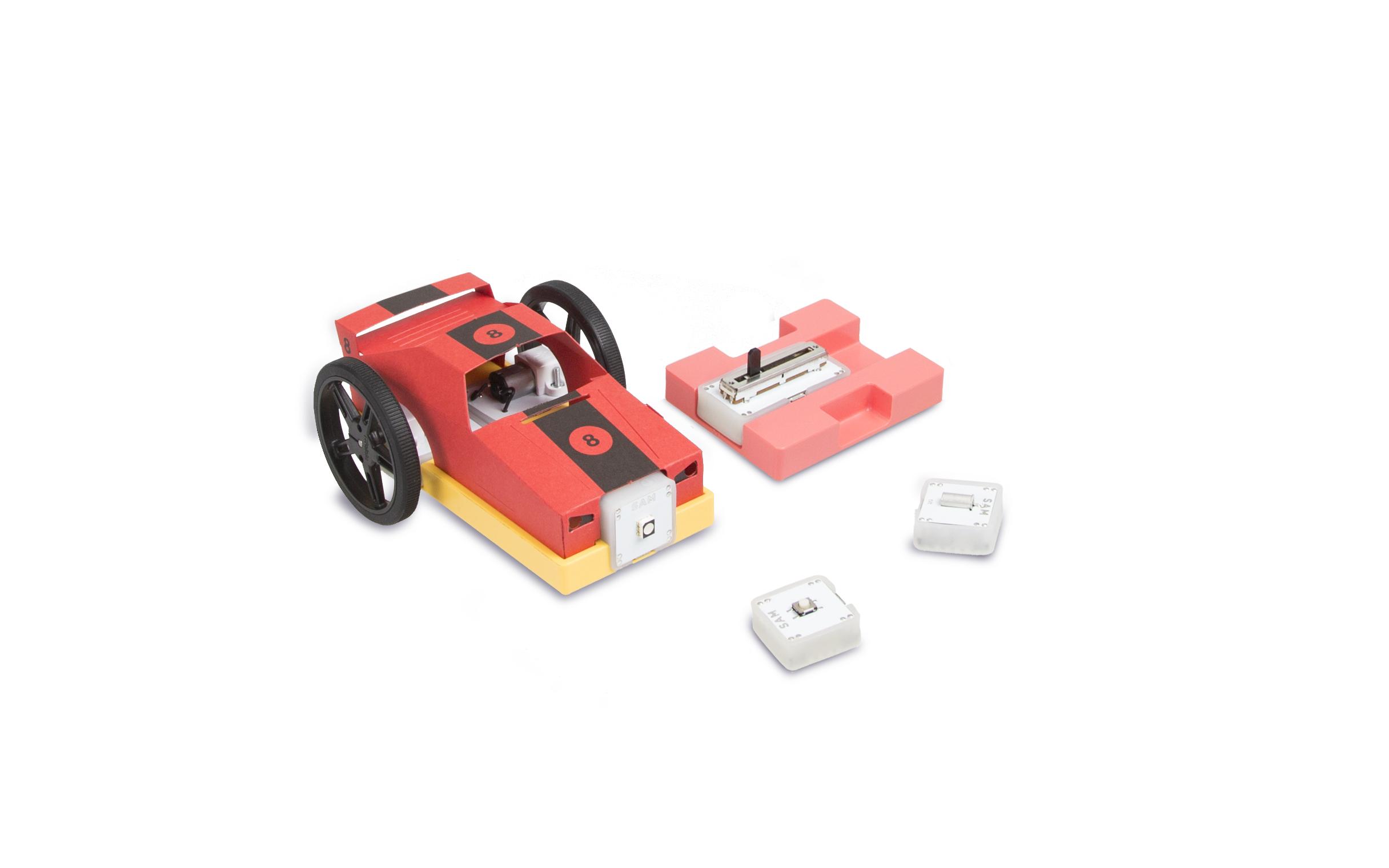 Sam's Curious Cars: Modulare ferngesteuerte Rennwagen bauen - Fahrzeug des Curio-Sets (Bild: Sam Labs)