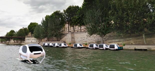 Eingesetzt werden sollen die Sea Bubbles als Wassertaxis auf der Seine in Paris. (Bild: Sea Bubbles)