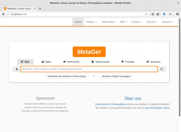 Metager-Startseite (Screenshot: Golem.de/Jan Weisensee)