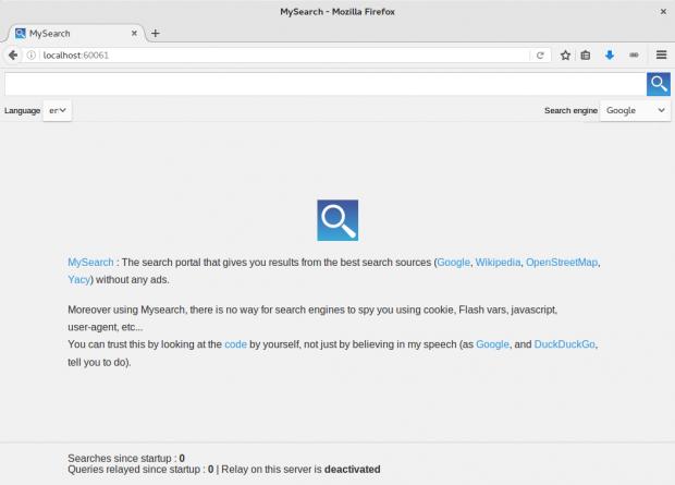 Startseite von Mysearch (Screenshot: Golem.de/Jan Weisensee)