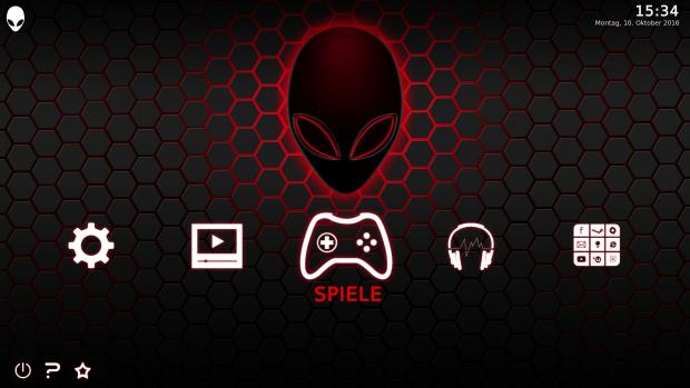 Hive Mind basiert auf Kodi. (Screenshot: Golem.de)