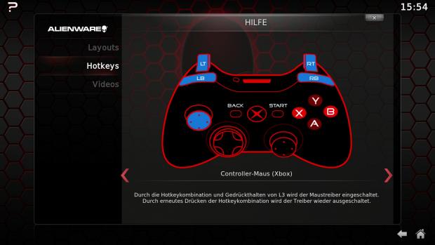Wichtige Funktion: die Maus- und Tastatur-Emulation (Screenshot: Golem.de)