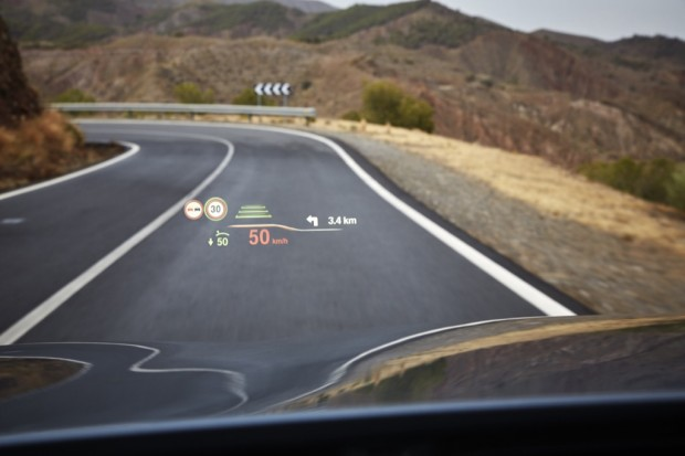 Head-up-Display des 5er BMW (Bild: BMW)