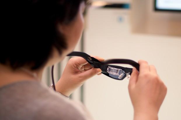 Die Brille ist recht leicht. (Foto: Andreas Sebayang/Golem.de)