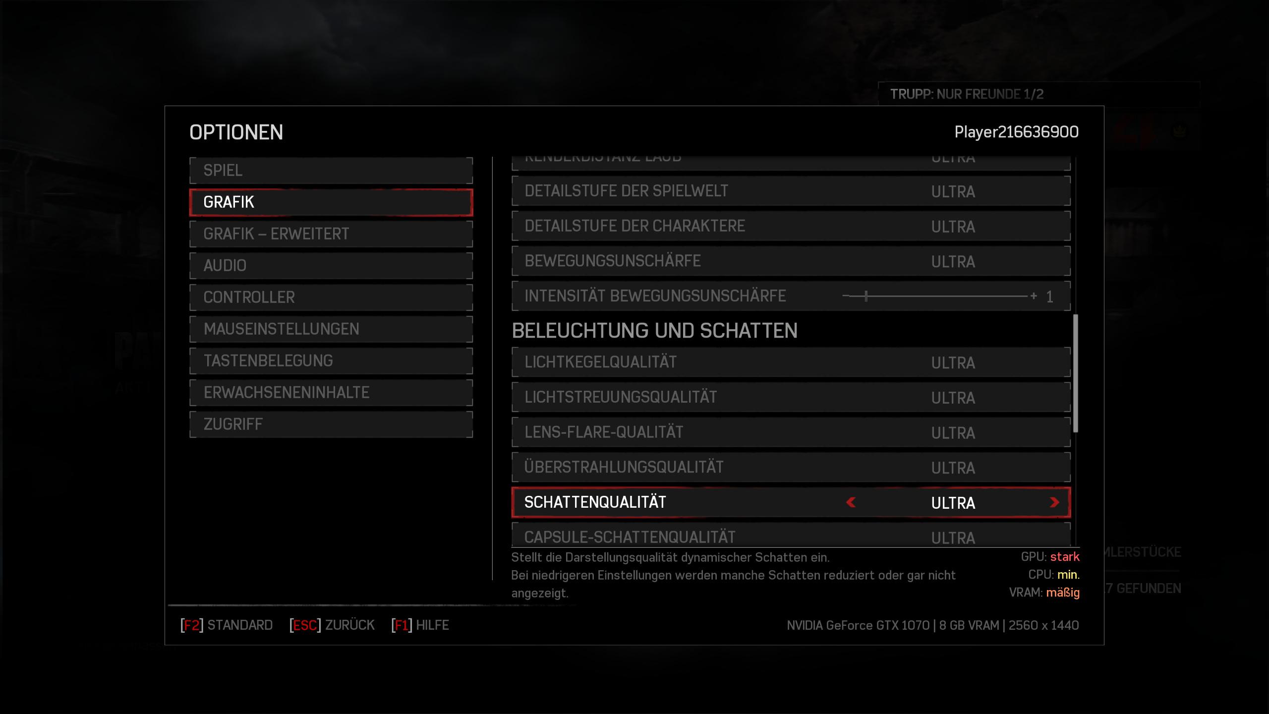 Gears of War 4 im Technik-Test: Wahnsinnig, diese PC-Version - Schatten belasten GPU und Videospeicher (Screenshot: Golem.de)