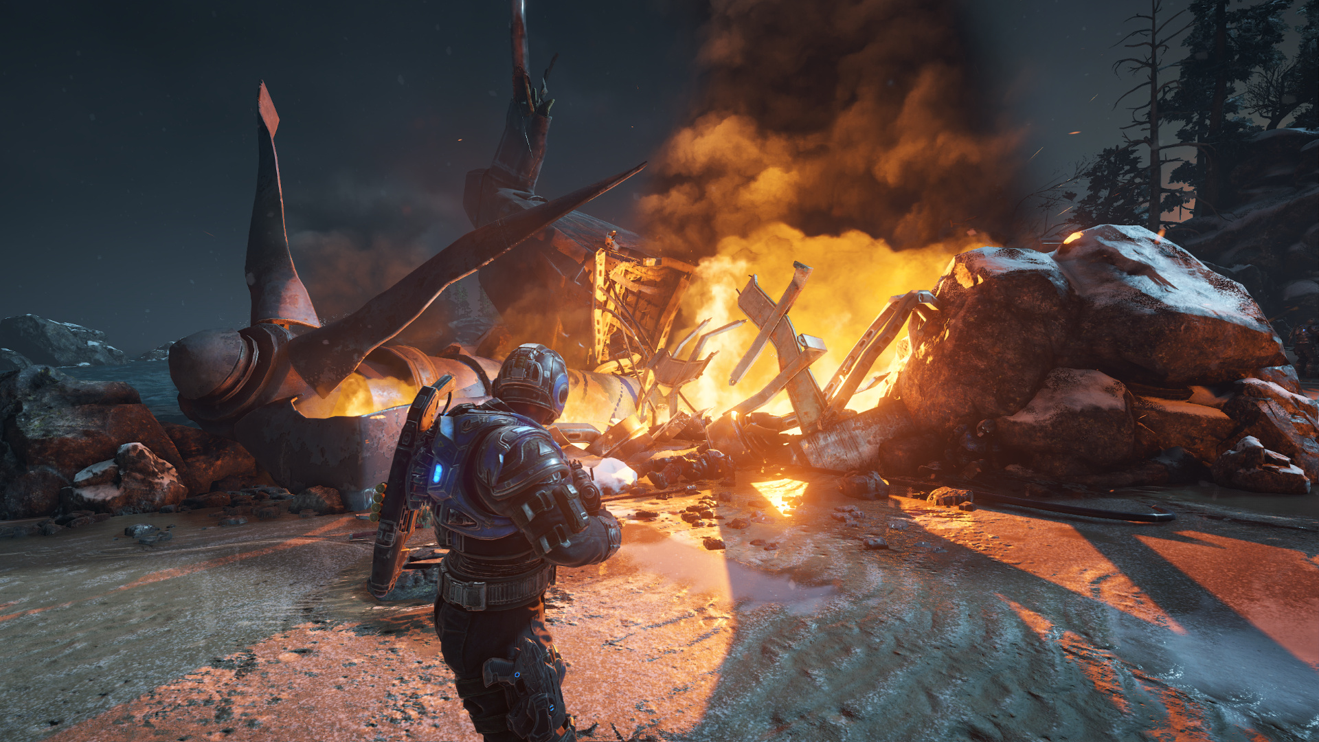 Gears of War 4 im Technik-Test: Wahnsinnig, diese PC-Version - Achtung: Ab hier folgen zwei Handvoll Bilder aus den ersten drei Stunden (Screenshot: Golem.de)
