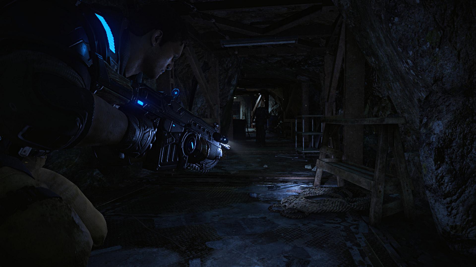 Gears of War 4 im Technik-Test: Wahnsinnig, diese PC-Version - Gears of War 4, Ultra-Details, 4K-UHD @ 1080p (Screenshot: Golem.de)