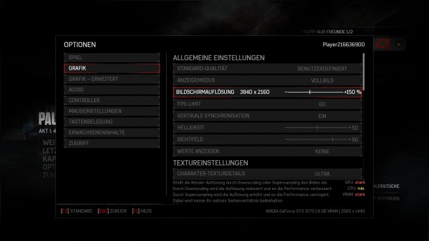 Gears of War unterstützt Upscaling und Downsampling (Screenshot: Golem.de)