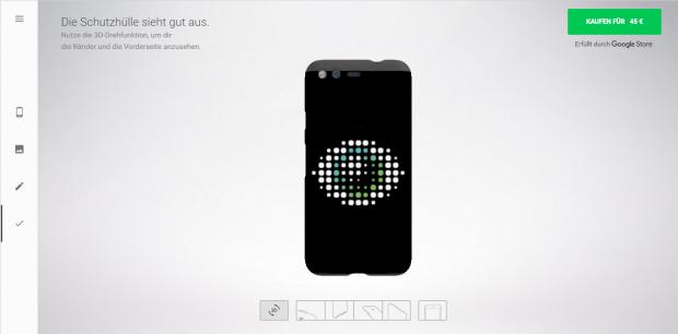Ein Live Case mit Golem.de-Logo sieht nett aus, ... (Screenshot: Golem.de)