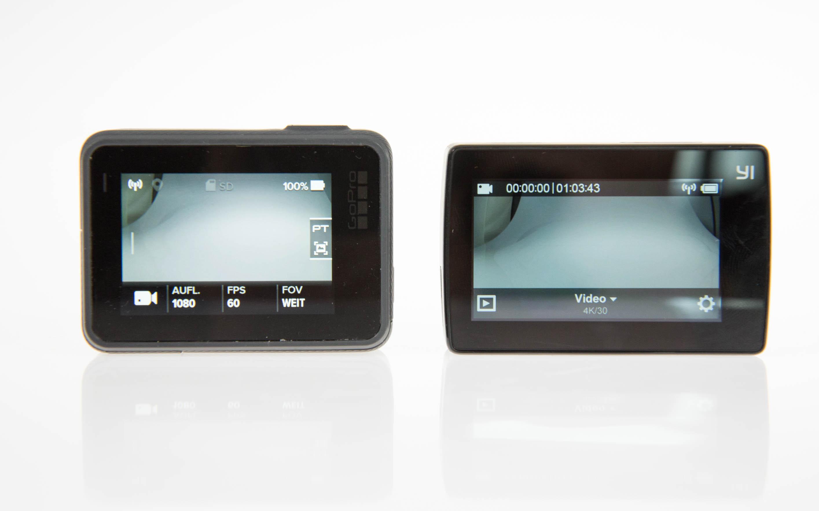 Gopro Hero 5 vs. Yi 4K Action Camera: Gute Bilder reichen nicht mehr - Der Bildschirm der Gopro ist heller und blickwinkelstabiler. (Bild: Martin Wolf/Golem.de)