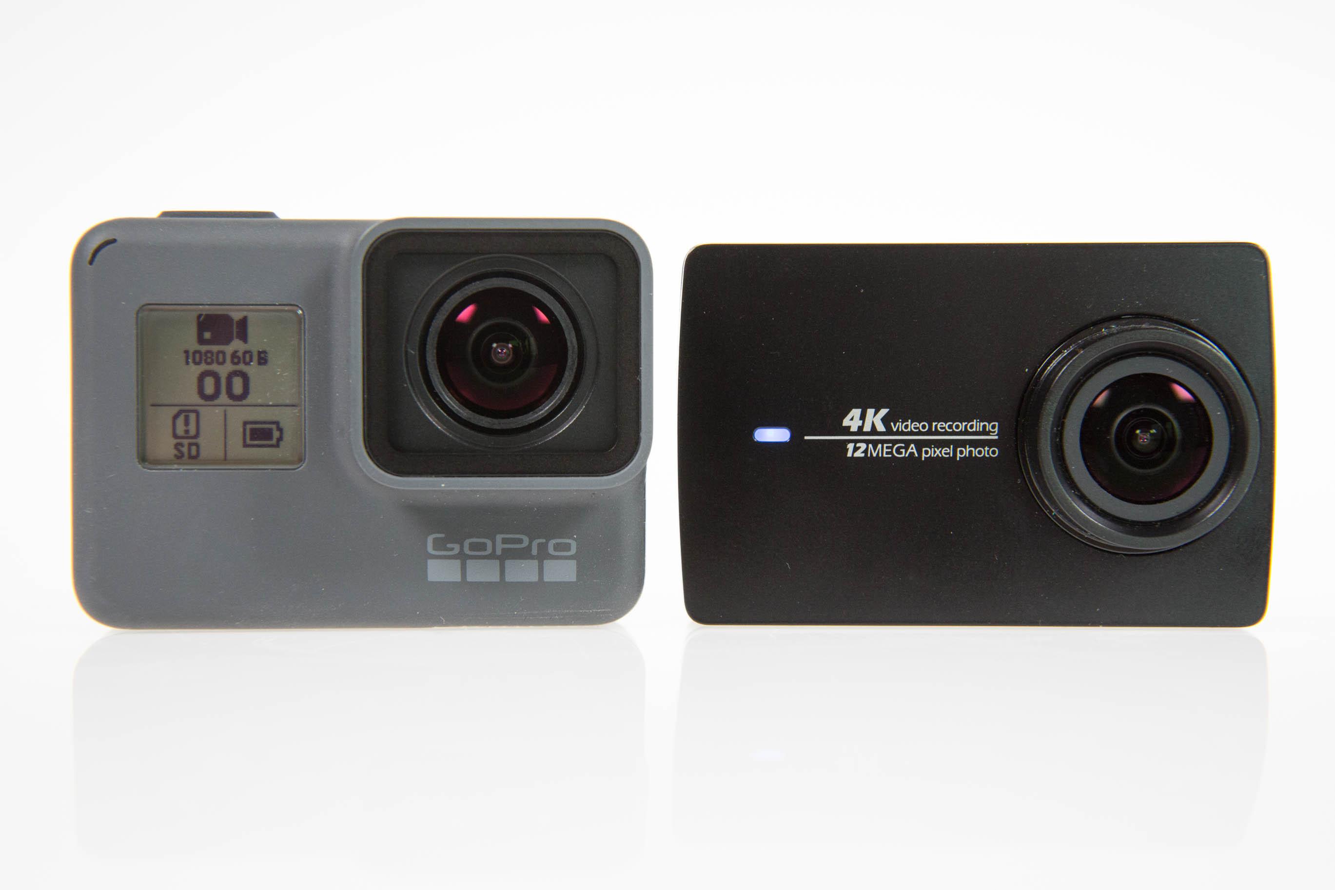 Gopro Hero 5 vs. Yi 4K Action Camera: Gute Bilder reichen nicht mehr - Anstelle des LC-Displays hat die Yi 4K Action Camera eine LED. Sie verlischt, wenn die Aufnahme startet. (Bild: Martin Wolf/Golem.de)