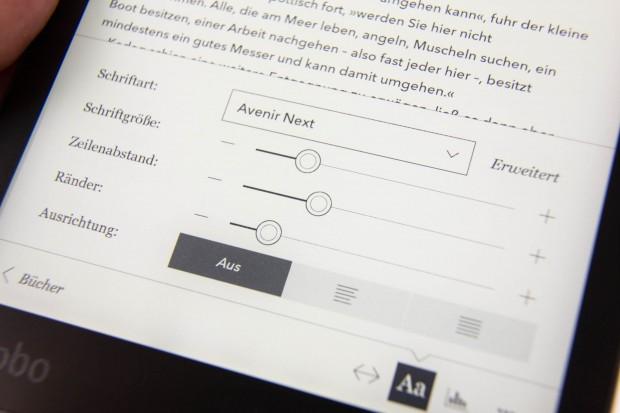 Das Schriftbild lässt sich umfangreich anpassen. (Bild: Martin Wolf/Golem.de)