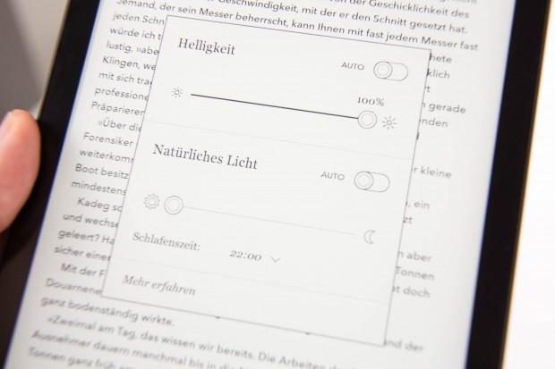 Helligkeit und Farbtemperatur können automatisch geregelt werden. (Bild: Martin Wolf/Golem.de)