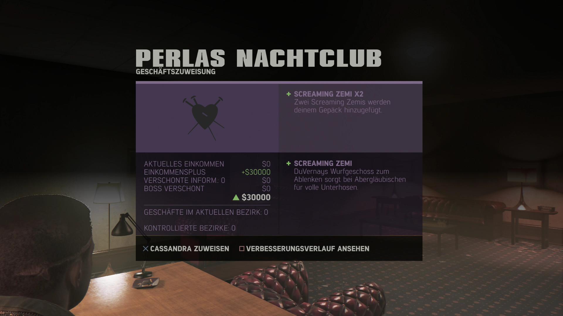 Mafia 3 im Test: Sex, Drogen und Rassismus - Unser Stripclub wird von Cassandra verwaltet. (Screenshot: Golem.de)