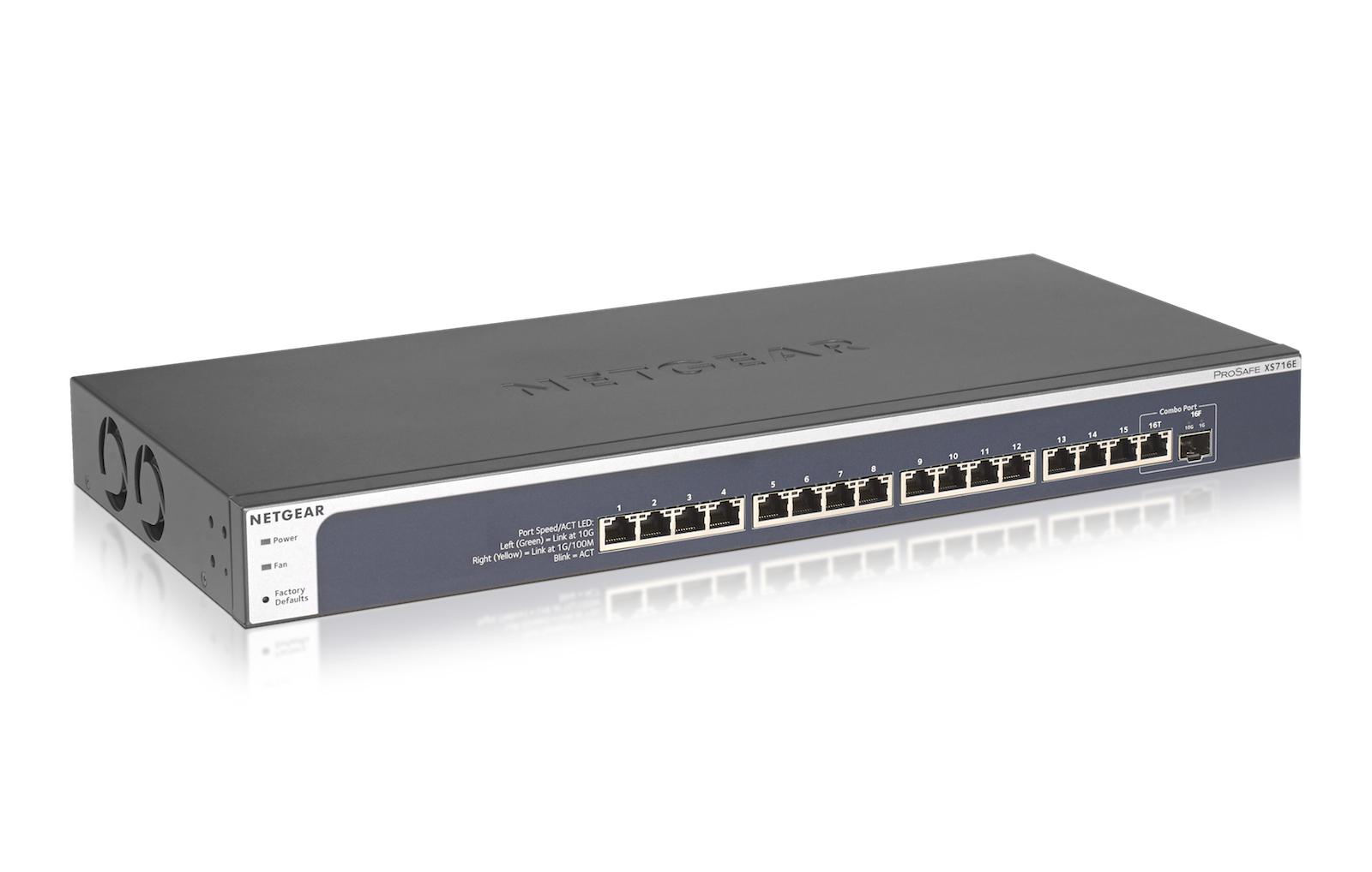 XS708Ev2 and XS716E: Netgears neue 10-Gigabit-Ethernet-Switches ab 700 Euro - XS716E (Bild: Netgear)