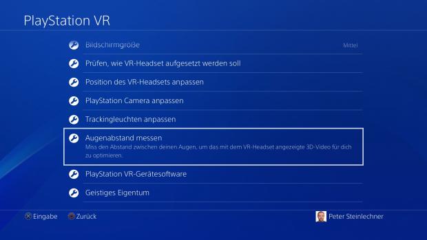 Wenn PS VR angeschlossen ist, gibt es ein zusätzliches Menü auf der Playstation 4, ... (Screenshot: Golem.de)