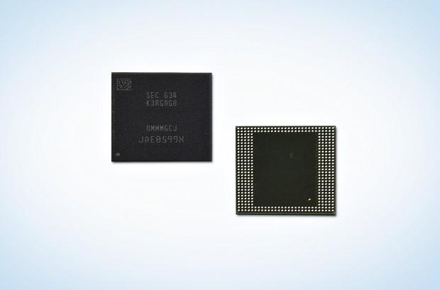 Package mit 8 GByte LPDDR4-4266 (Bild: Samsung)