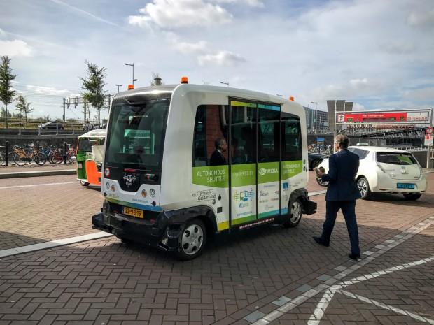 Der autonome Mini-Bus Wurbie von Wepod (Bild: Tobias Költzsch/Golem.de)