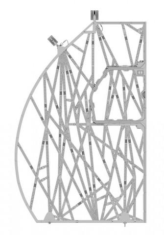 Die Bionic Partition ist eine leichte Trennwand für den Airbus A320. (Bild: Airbus)