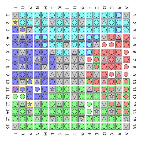 Vollständig dokumentierte Karte der Pins (Bild: Christer Weinigel)
