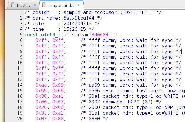 FPGA-Quellcode (Bild: Christer Weinigel)