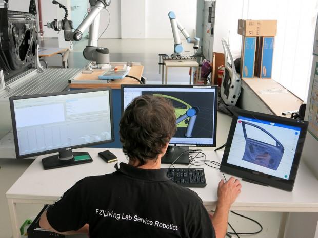 Einsatz von ROS bei den European Robotics Challenges für komplexe Montagevorgänge in der Automobil-Branche (Bild: FZI)