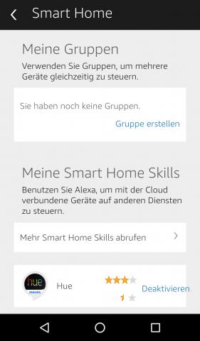 Die Einstellungen für erkanntes Smart-Home-Zubehör (Screenshot: Golem.de)