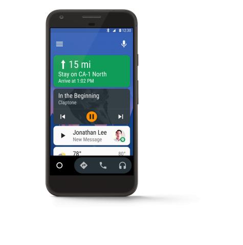 Android Auto auf einem Pixel (Bild: Google)