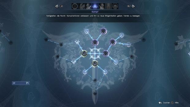Der Talentbaum erstreckt sich über mehrere Bildschirme. (Screenshot: Golem.de)