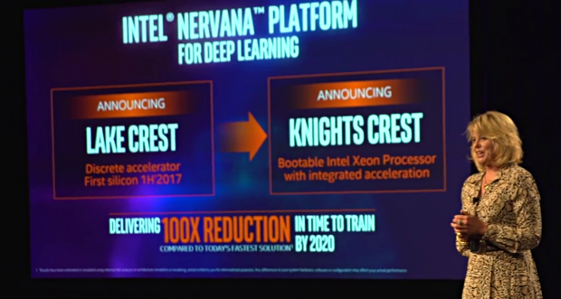 Diane Bryant stellt Lake Crest und Knights Crest vor (Bild: Intel)