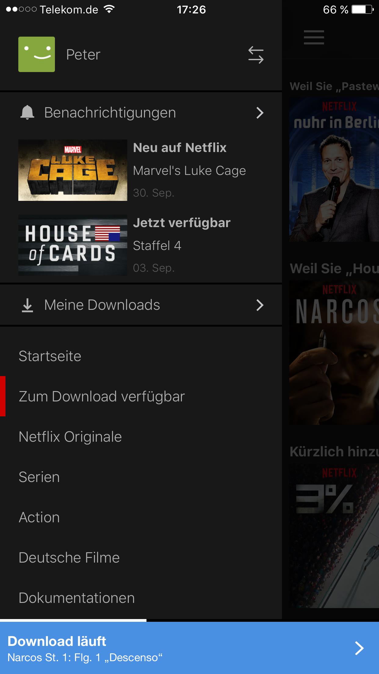 Offlinemodus: Netflix erlaubt Download ausgewählter Filme und Serien -