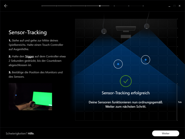 Oculus VR sieht 180 Grad Front Facing vor. (Screenshot: Golem.de)