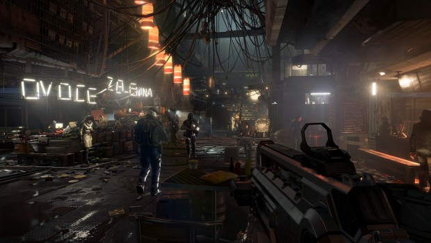 Deus Ex Mankind Divived in 4K-UHD (Screenshot: Sony)