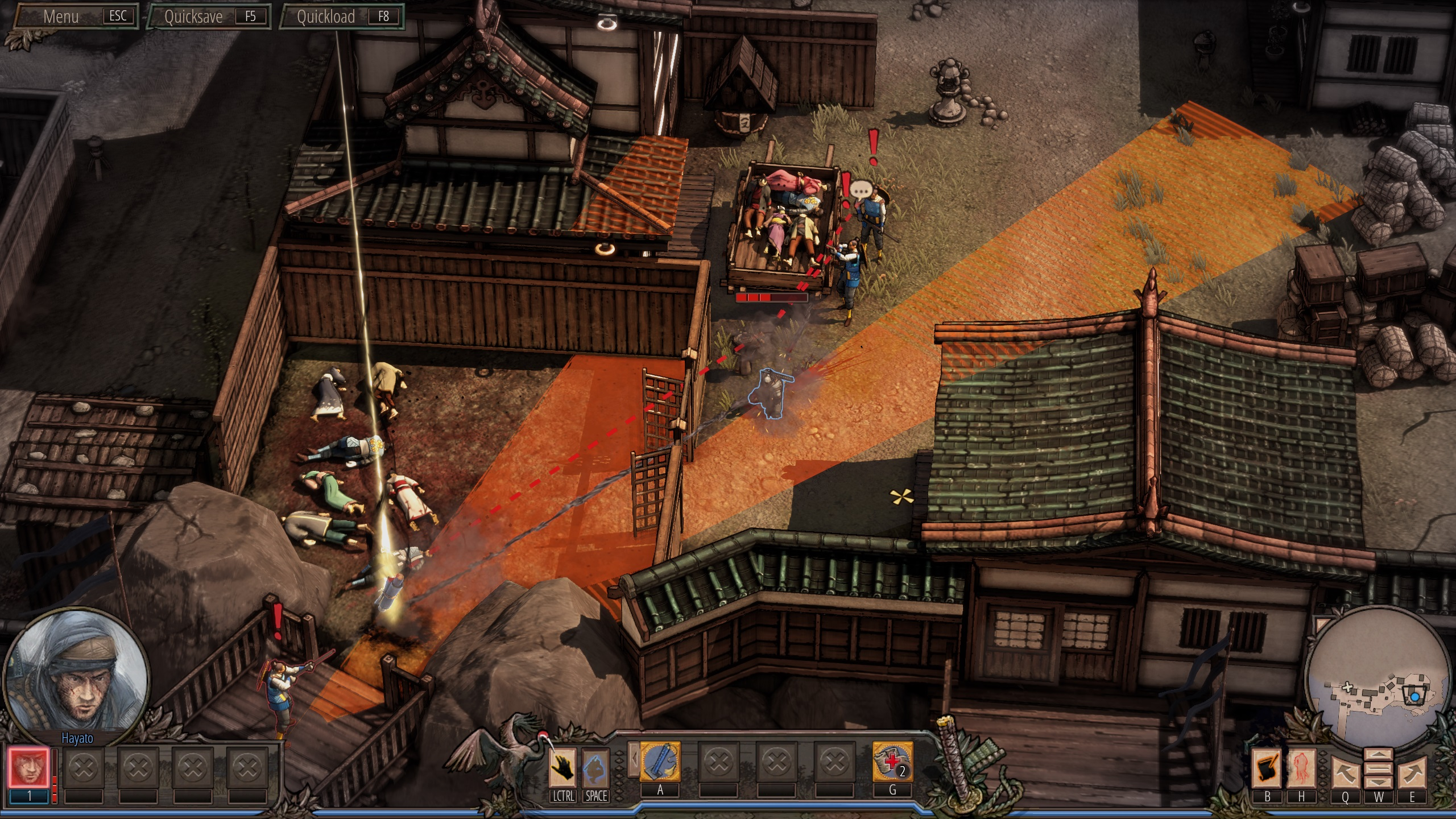 Shadow Tactics im Test: Tolle Taktik für Fans von Commandos - Shadow Tactics (Screenshot: Golem.de)