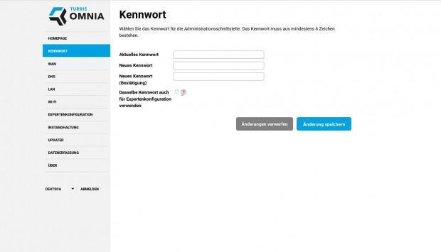 Bei der Einrichtung muss zunächst das Administratorkennwort gesetzt werden. (Screenshots: Golem.de)