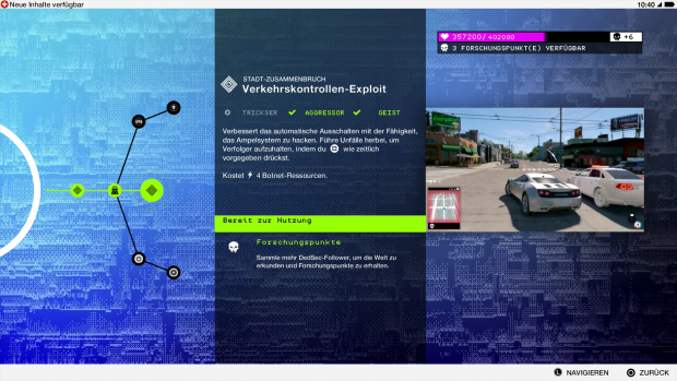 Der Talentbaum von Watch Dogs 2 (Screenshot: Golem.de)