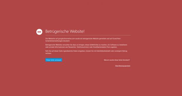 Google warnt vor der Malware-Seite. (Screenshot: Golem.de)