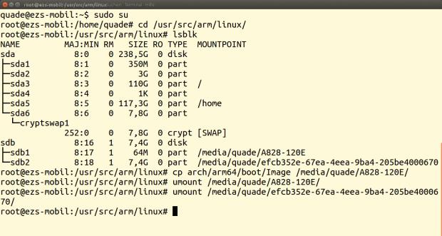 Die Variante für Ungeduldige: Einfach neuen Kernel kopieren und fertig.