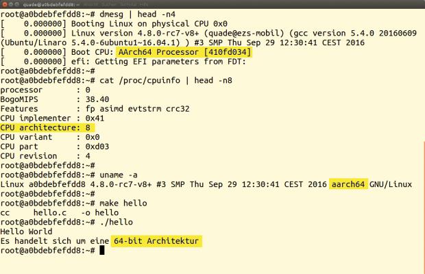 Anders als offiziell vorgesehen, lässt sich der Raspberry Pi 3 auch als 64-Bit-System nutzen.
