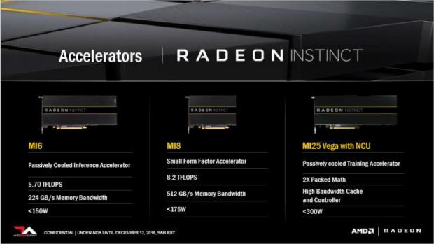 Die drei MI-Karten (Bild: AMD)