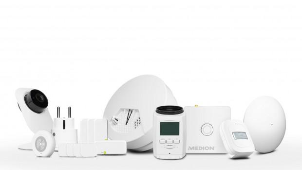 Das Fortgeschrittenen-Set von Medions Smart-Home-System (Bild: Medion)