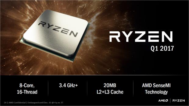 Ryzen läuft mit mindestens 3,4 GHz (Bild: AMD)