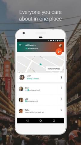 Ausgewählten Kontakten können Nutzer ihre Position mitteilen. (Bild: Google)