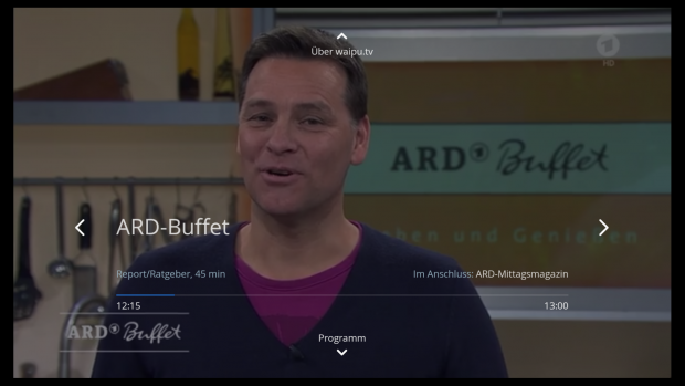 Waipu TV als Fire-TV-App (Screenshot: Golem.de)