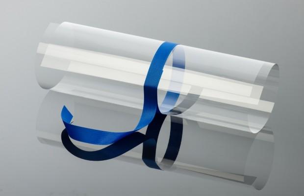 Kein Geschenkband, sondern ultradünnes Glas (Foto: Schott)