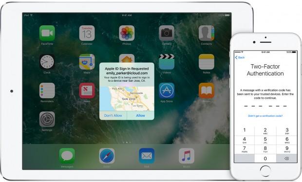 Auf neueren Geräten hat Apple Zwei-Faktor-Authentifizierung ins Betriebssystem integriert. (Bild: Apple)