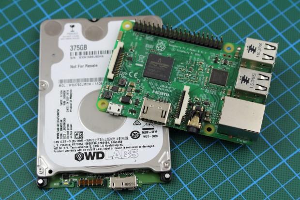 Pidrive von Western Digital  für den Raspberry Pi (Bild: Alexander Merz/Golem.de)