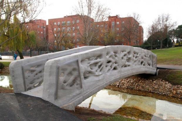 Die 3D-gedruckte Brücke in Alcobendas bei Madrid (Foto: IAAC)