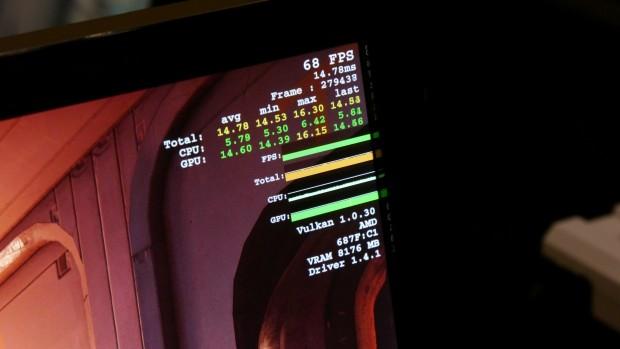 Doom auf Vega 10 (Foto: Marc Sauter/Golem.de)